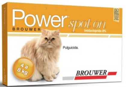 POWER SPOT-ON PIPETA 4-8 kg Gato